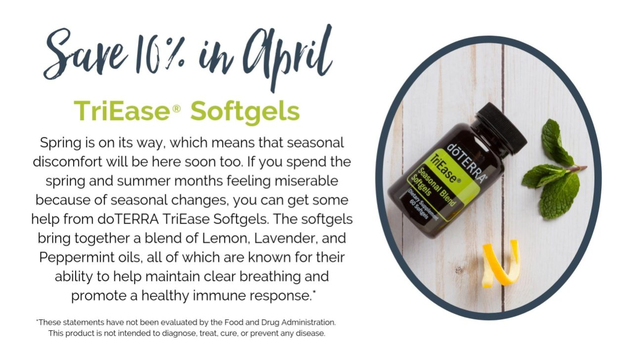 doTERRA 10% Off product for April 2019