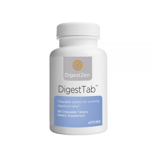 DigestZen is one of doTERRA's most popular blends due to its ability to aid in digestion, soothe occasional stomach upset, and maintain overall digestive health.* Now this incredibly effective blend is available in a convenient chewable tablet. DigestTab is a calcium carbonate tablet infused with DigestZen Digestive Blend to deliver the benefits of digestion—supportive essential oils as well as the acid—neutralizing benefits of calcium carbonate.