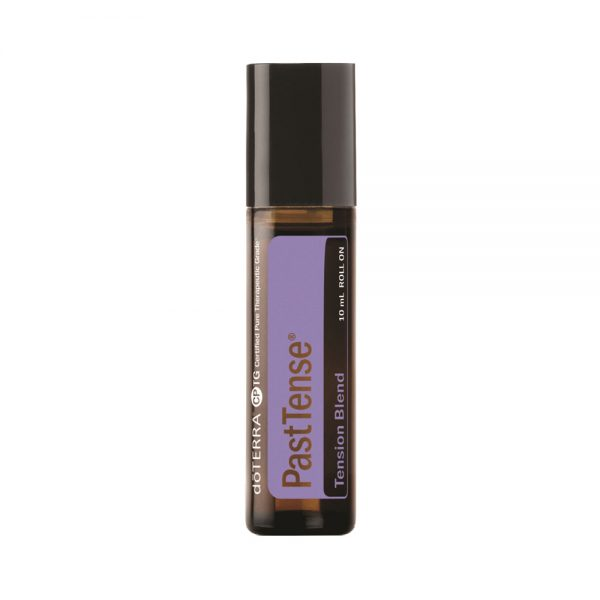 PastTense Tension Blend To help ground and balance emotions, PastTense uses a fresh, cooling aroma that can ease stressful feelings and promote a sense of calm.