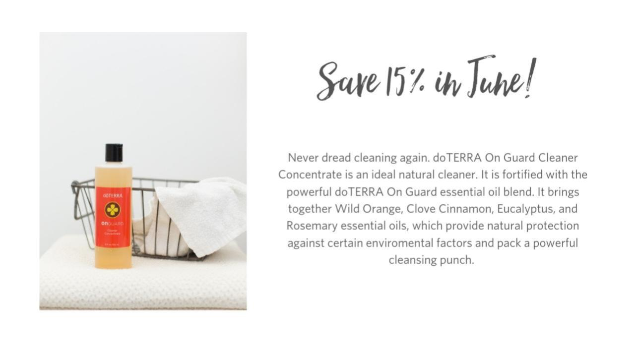 Save 15% in June 2019 on doTERRA's On Guard cleanser