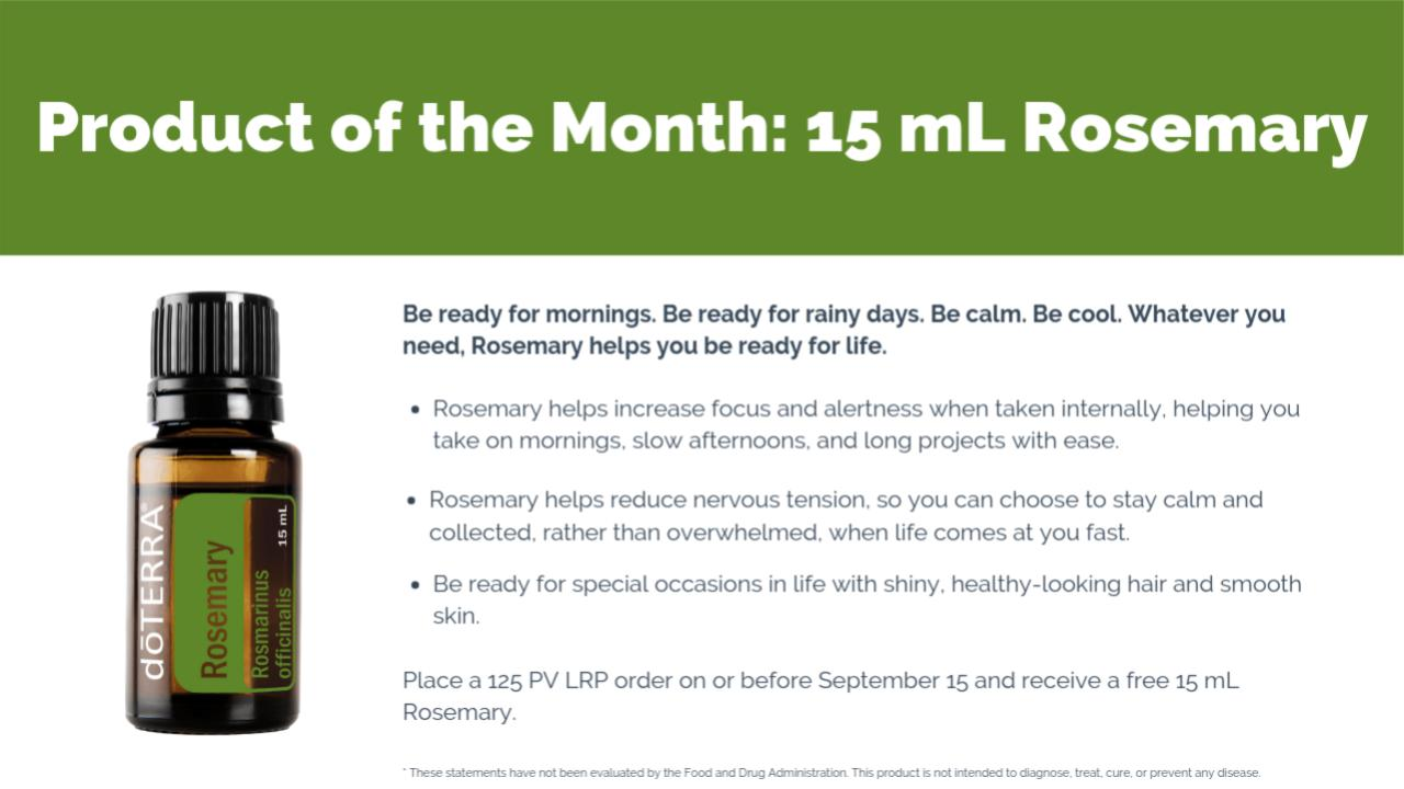 doTERRA Product of the Month for September 2019 - September Promotions