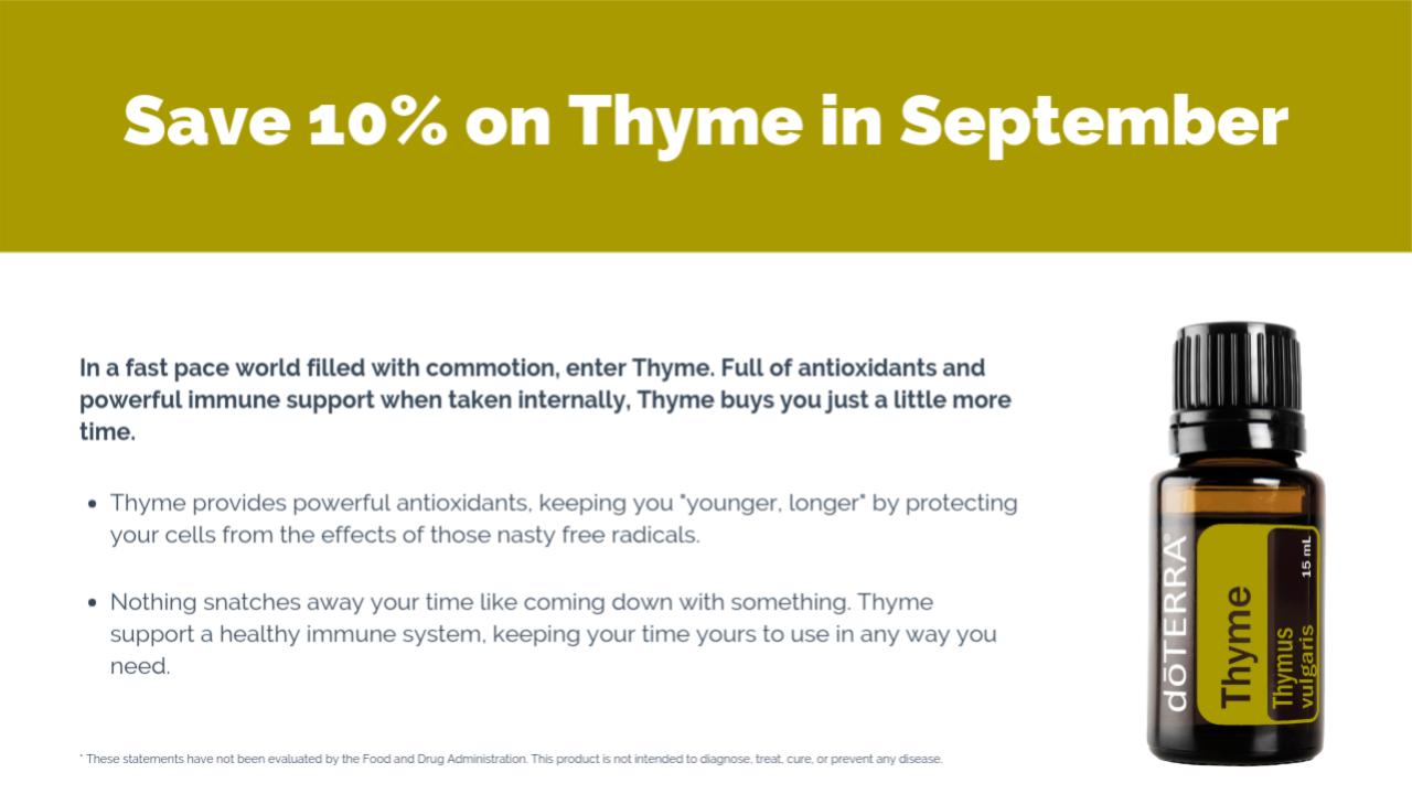 doTERRA 10% Off Product of the Month for September 2019 - September Promotions