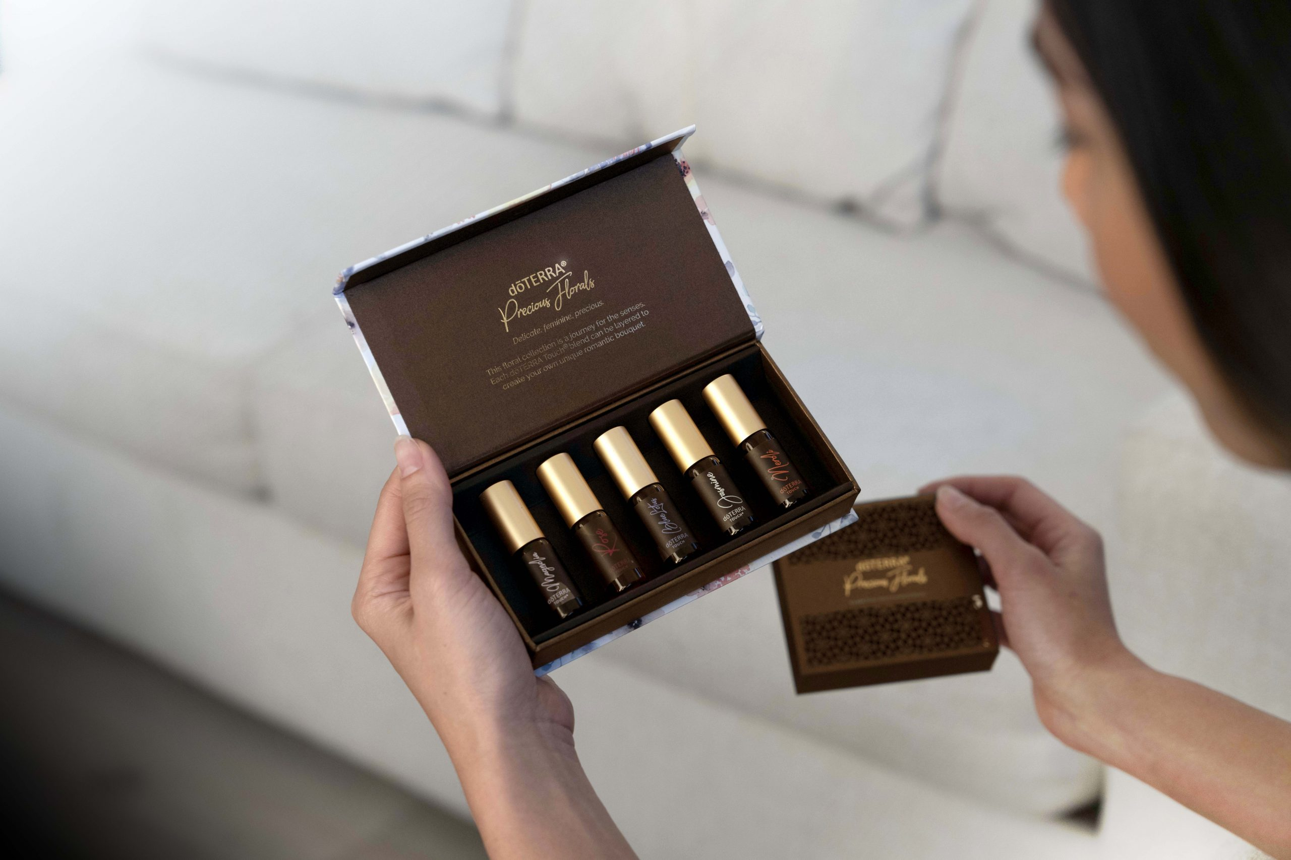 doTERRA Mother's Day Kit 2020 - Includes five 4 mL roll-on Touch versions of: Rose essential oil, Neroli essential oil, Jasmine essential oil, Magnolia essential oil, Blue Lotus essential oil (new!)
